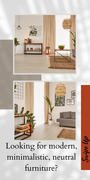Looking for modern, minimalistic, neutral furniture